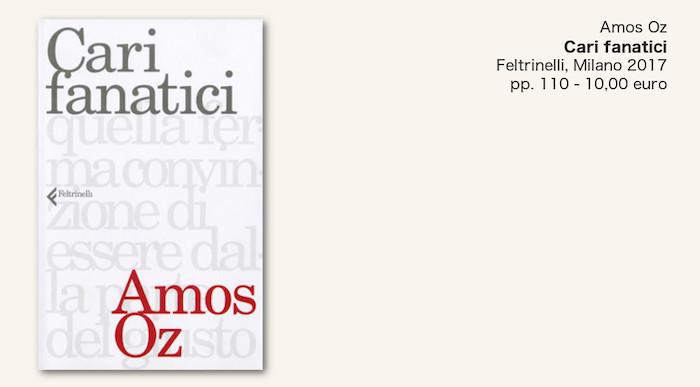 Amos Oz contro il fanatismo