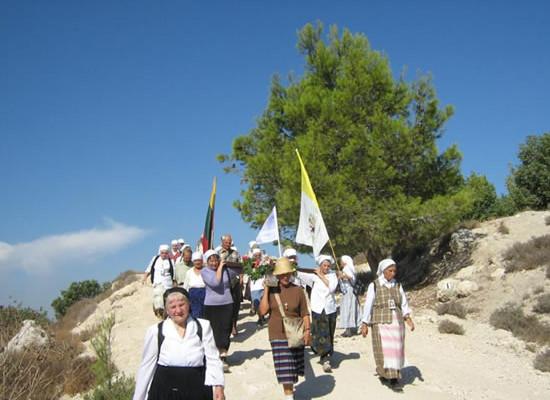 I pellegrini lituani, giunti a Gerusalemme il 17 ottobre scorso, hanno percorso a piedi 4.300 chilometri.