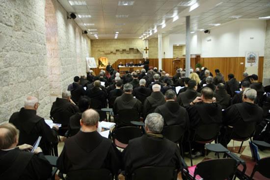 Gerusalemme, panoramica della sala dei lavori del congresso dei Commissari di Terra Santa.