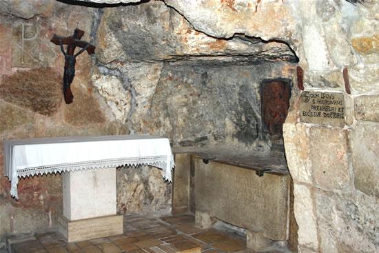 Betlemme. La grotta di San Girolamo nel sottosuolo della basilica della Natività.