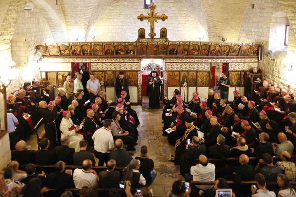 Il 13 settembre nella chiesa del villaggio di Mi'ilya, a maggioranza cristiana di rito cattolico melchita. (foto CMC - A. Amireh)