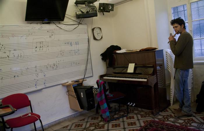 Un'aula della scuola di musica.