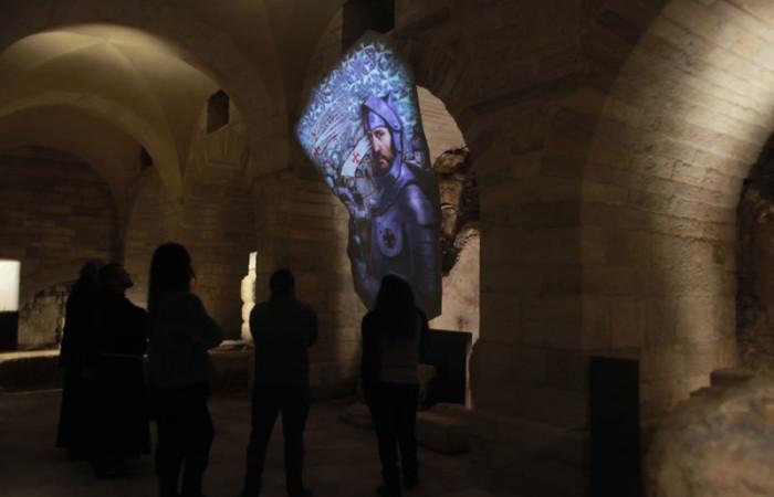 Il crociato Goffredo di Buglione appare nella sezione multimediale del <i>Terra Sancta Museum</i>.