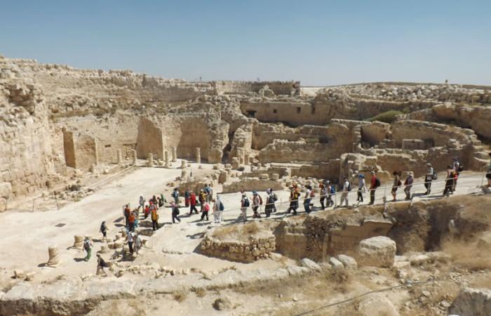 In visita al monumentale complesso archeologico dell'Herodion. (foto V. Borghi)