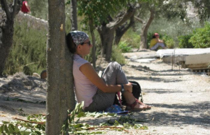 Silenzio e meditazione personale al romitaggio del Getsemani. (foto S. Galli)