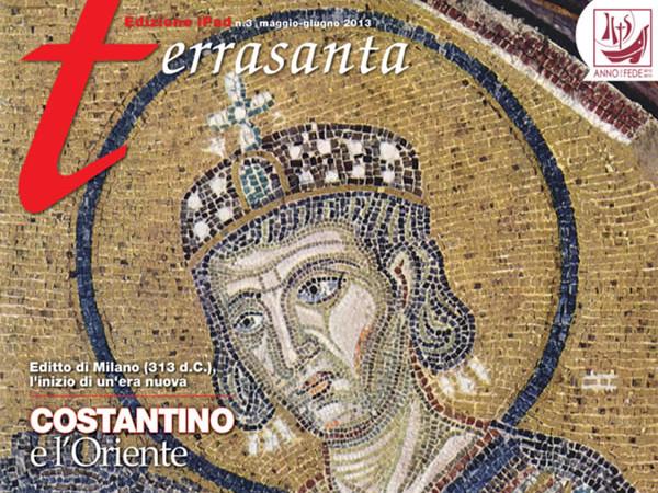 La copertina di <i>Terrasanta</i> in versione iPad. [galleria 1/4]