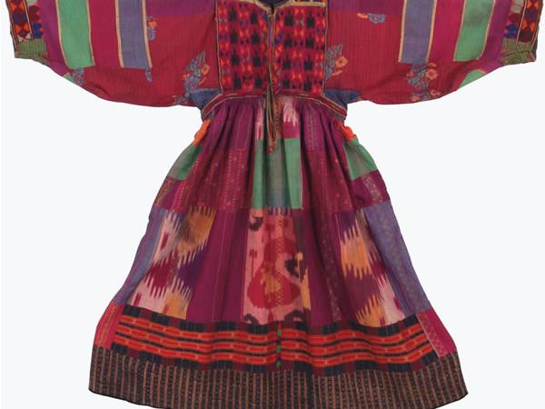 Abito femminile - Taffetas di seta «Ikat», Afghanistan (popolo <i>pashtun</i>?), inizi XX secolo.