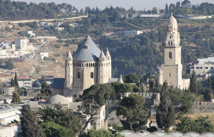 Veduta della chiesa della Dormizione di Maria Vergine, sul Monte Sion, a Gerusalemme. (foto M. Gottardo)