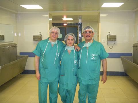 I tre medici del Bassini di Cinisello Balsamo (Mi): da sin. Mauro Longoni, Emilia Masci e Giuseppe Faillace.