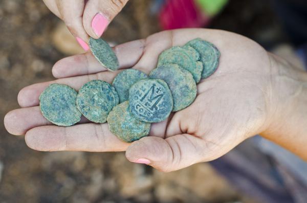 Monete d'epoca bizantina ritrovate presso Gerusalemme