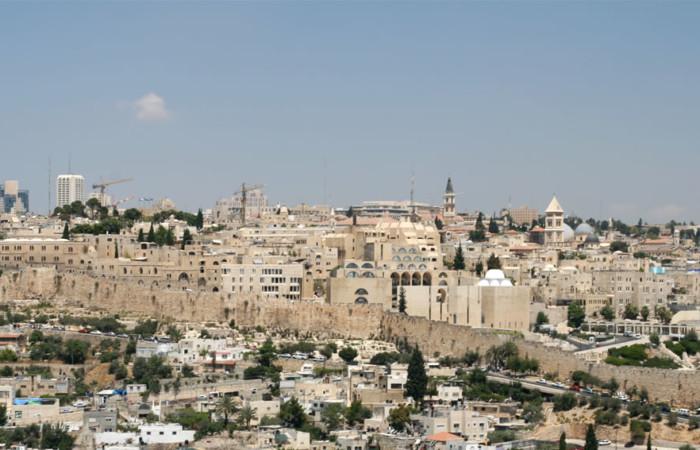 Una panoramica del quartiere ebraico entro le mura della Gerusalemme vecchia.