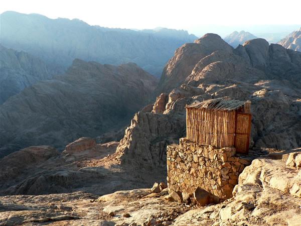 Una capanna sul monte Sinai.