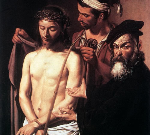 L'<i>Ecce Homo</i> dipinto da Caravaggio intorno al 1605, pochi anni prima della sua morte.