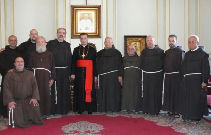 I frati della Custodia ricevuti dal patriarca maronita mons. Bechara Boutros Raï.