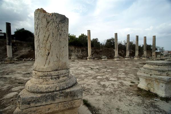 Resti della basilica romana di Sabastiya.