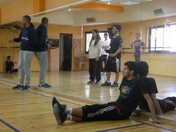 Il gruppo dei più giovani in fase di allenamento.