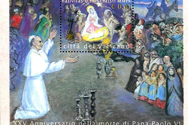L'emissione filatelica vaticana che nel 2003 commemorava i 25 anni dalla morte di Paolo VI facendo riferimento al suo pellegrinaggio in Terra Santa.