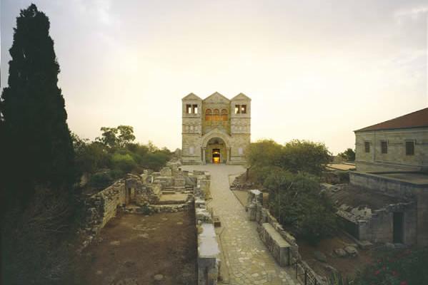 Il santuario della Trasfigurazione, sul Monte Tabor. (foto P. Colla)