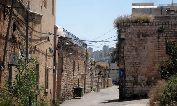 Uno scorcio dell'antico quartiere di Wadi Salib, bombardato nel 1948.