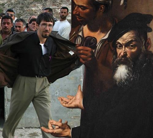 La rielaborazione dell'opera in chiave palestinese.