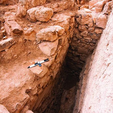 La stanza numero 3 dopo gli scavi, inquadrata da nord-ovest.