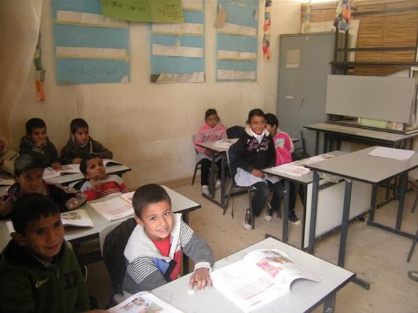 Alcuni degli scolari del villaggio.