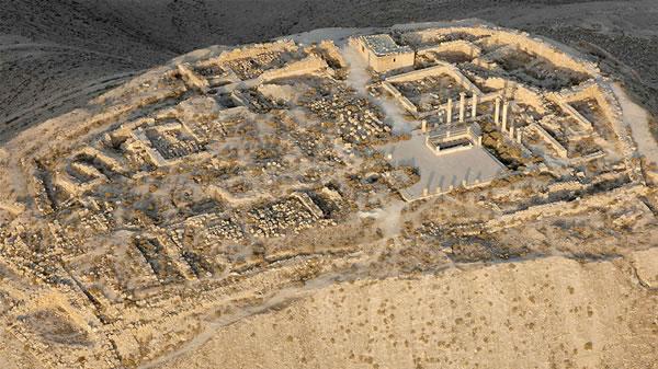 Fotografia aerea scattata nel settembre 2006 sull'area archeologica di Macheronte, abbandonata e incustodita.