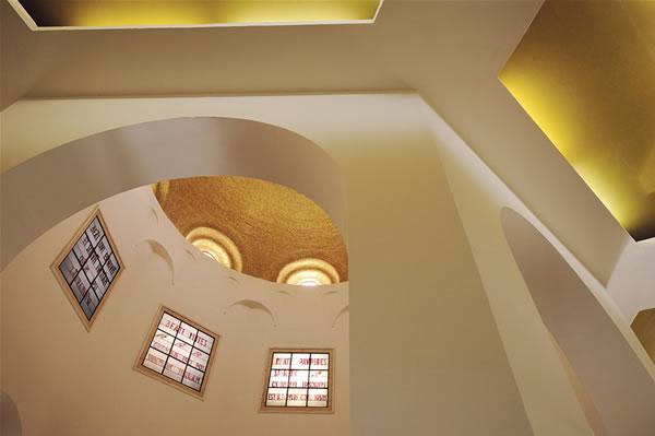 Le geometrie della basilica delle Beatitudini, in Galilea (Israele). (foto P. Cagna)