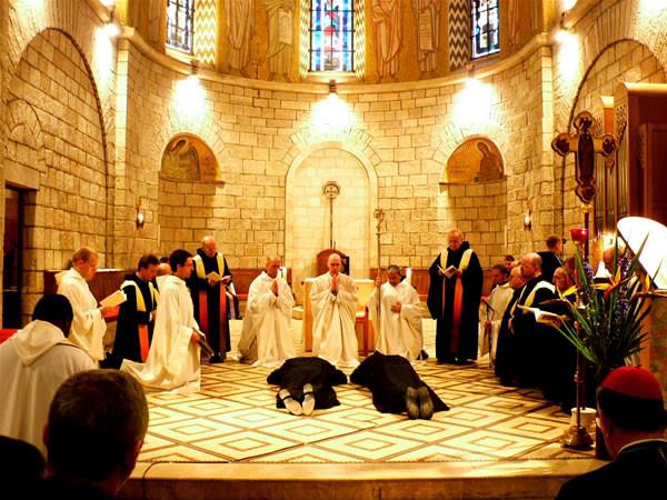 Professione solenne per due monaci dell'abbazia benedettina della Dormizione, a Gerusalemme.