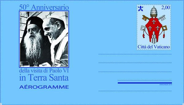 L'aerogramma celebrativo emesso in novembre dalle Poste vaticane. [1/3]