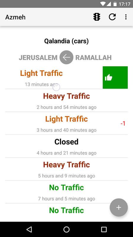 Cisgiordania, l'imbuto dei posti di blocco israeliani si aggira con un'App
