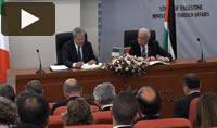 Il ministro degli Esteri italiano a Ramallah
