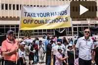 Video – Manifestazione delle scuole cristiane in Israele