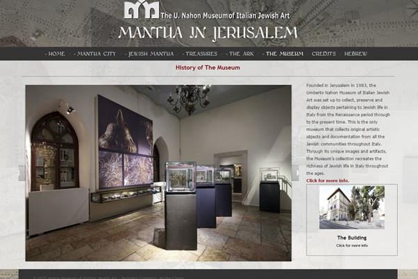 Nella pagina viene presentato il Museo di arte ebraica italiana a Gerusalemme.