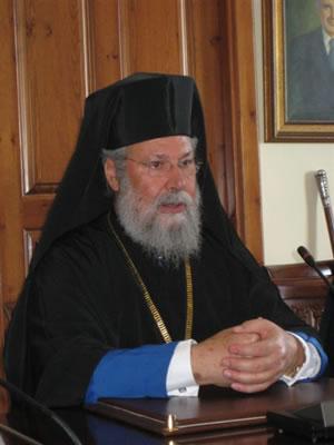 Profilo. L'arcivescovo Chrisostomos II