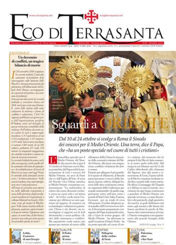 Terra Santa News – 8 ottobre 2010