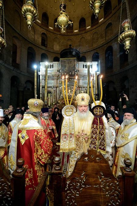 Il patriarca Kirill pellegrino in Terra Santa