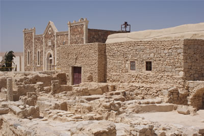 La chiesa del monastero di Mar Elian, a Qaryatayn.