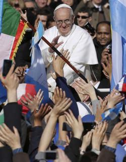 Papa Francesco e i francescani della Custodia a Buenos Aires