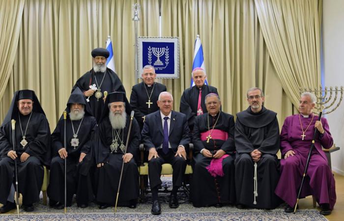 Udienza di fine anno del presidente israeliano ai leader cristiani
