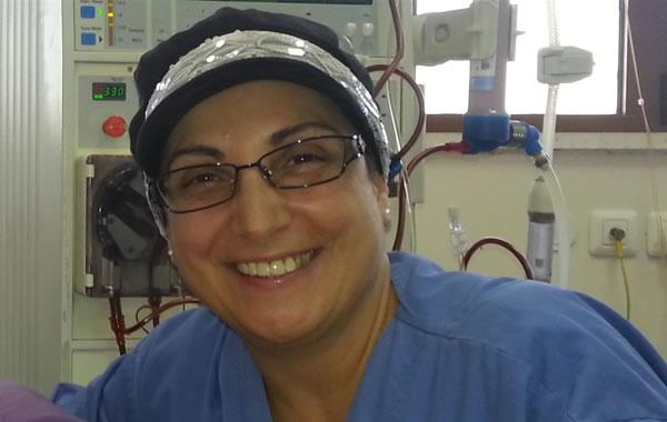 Un angelo tra gli ospiti del centro di dialisi