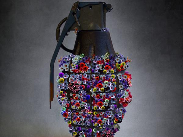 L'opera di Tammam Azzam <i>Syria Next Spring</i>, esposta nella mostra <i>Creative Syria</i>. [galleria 1/6]