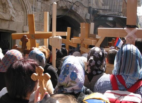 La Via Crucis lungo la Via Dolorosa