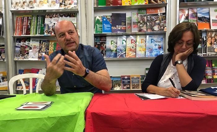 Eraldo Affinati ed Elena Loewenthal parlano di don Lorenzo Milani alla Fiera del libro di Gerusalemme.