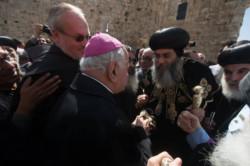 L'ingresso a Gerusalemme del nuovo arcivescovo copto ortodosso