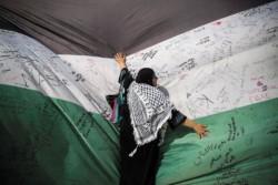 Una bandiera da record per Arafat