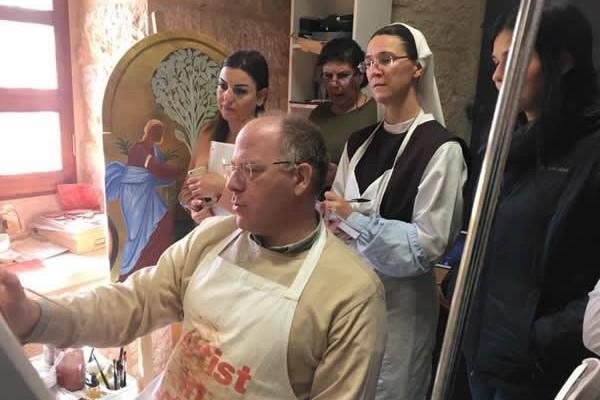 Una scuola di iconografia a Betlemme