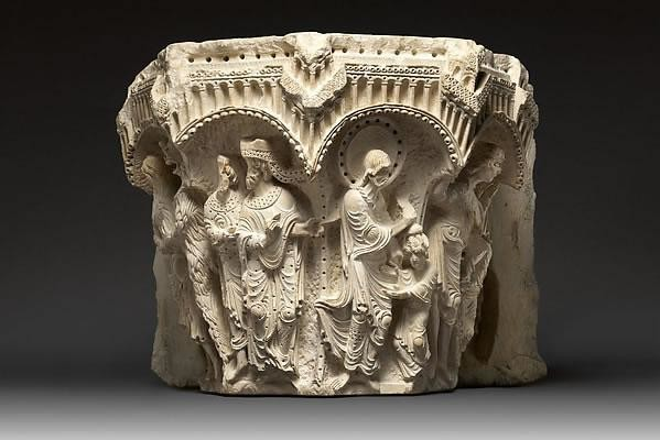 Uno dei capitelli di Nazaret esposti al Museo Metropolitan di New York.