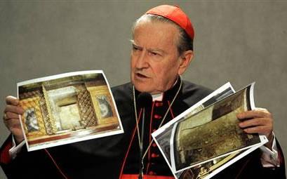 Il card. Andrea Cordero Lanza di Montezemolo, arciprete della basilica romana di San Paolo fuori le Mura.