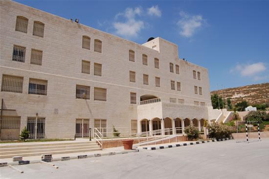 L'edificio principale dell'Istituto Nostra Signora della Pace, alle porte di Amman. (foto G. Caffulli)
